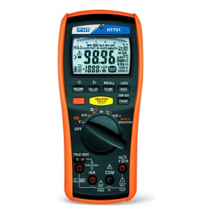 HT Italia HT701 - True RMS AC/DC Multimeter / 1000 VDC Insulation Resistance Tester