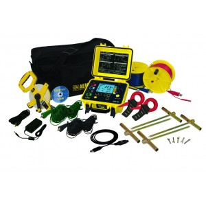 AEMC 6471 Multifunction Digital Ground Resistance Tester Kit with Clamps - 300ft