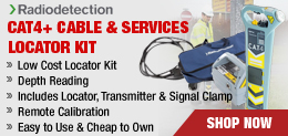 cat4 plus cable services locator kit