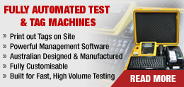 fully automated test and tag equipment