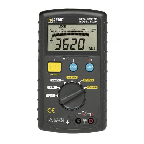 AEMC 1026 Digital 1000V Insulation Tester with Analogue Bargraph