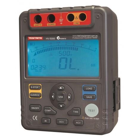 Testrite HV-5000 5kV Digital Insulation Tester with Software & USB