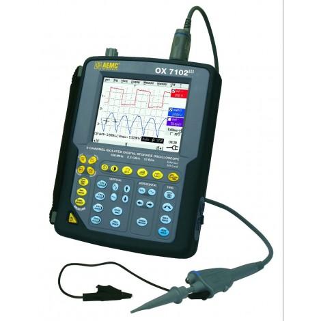 AEMC OX7102 III 2 Channel 100MHz Hand Held Oscilloscope Kit