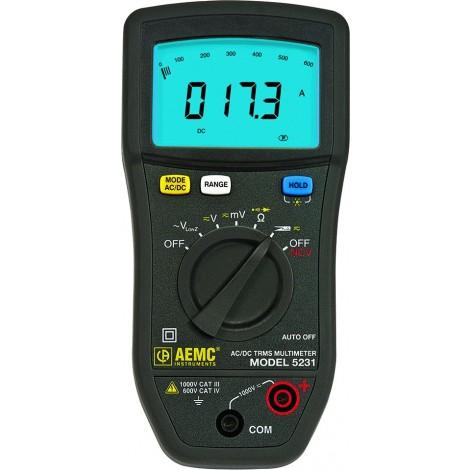 AEMC 5231 TRMS Digital CAT IV Low Impedance Multimeter