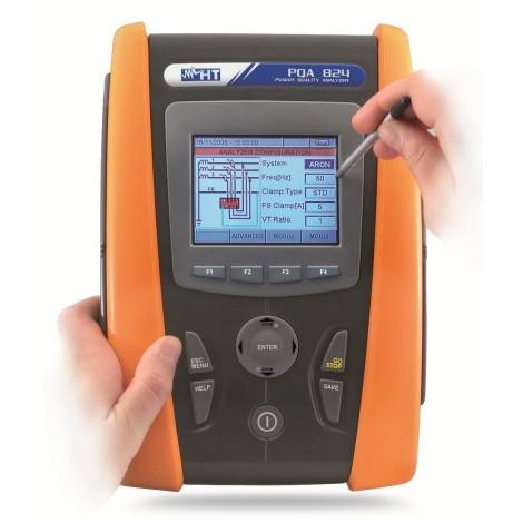 HT Italia PQA 824 Touchscreen Power Quality Analyser