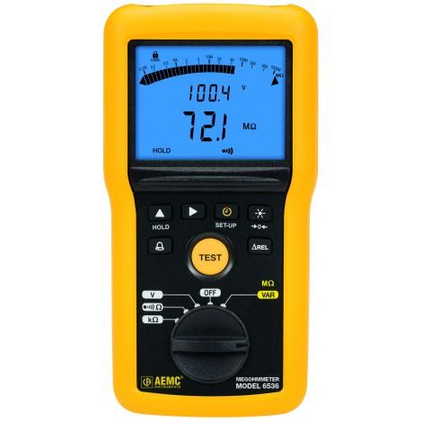AEMC 6536 100V Multi-Function Digital Insulation Resistance Tester