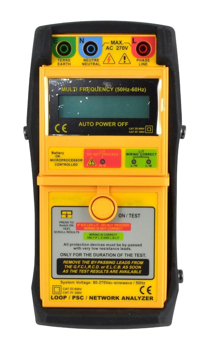 Digital Earth Loop Impedance Psc Tester