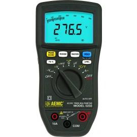 AEMC 5233 TRMS Digital CAT IV Low Impedance Multimeter with Temperature Measurement