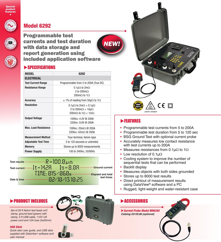 AEMC 6292 Specifications