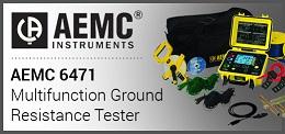 AEMC 6471 Ground Resistance Tester