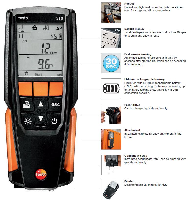 Testo 310 Features